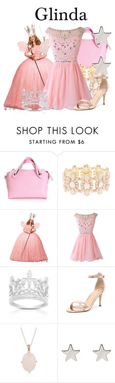 """Glinda"" by megan-vanwinkle ❤ liked on Polyvore featuring Charlotte Russe, Finesque, Verali and Jennifer Meyer Jewelry"