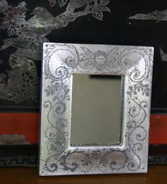 Mirror in Silver Leaf by thehankyheiress on Etsy, $34.00
