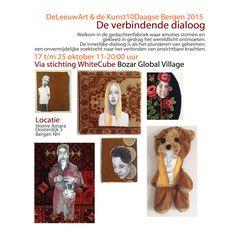 The connecting dialogue De verbindende dialoog #DeLeeuwArt #Kunst10Daagse 2015 #Bergen #StichtingWhiteCube #GlobalVillage