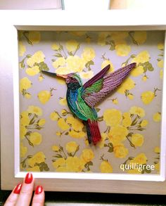 Quilling Hummingbird by Quilligree