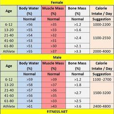 7 great muscle mass chart bmi bone mass etc images fitness