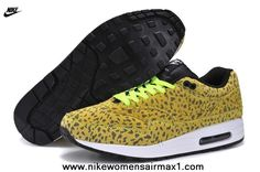 online retailer 894f7 09548 New Cheetahs Yellow 2014 Mens Nike Air Max 1 87 Running Shoes For Sale Air  Max