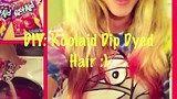 DIY: Koolaid Dip Dyed Hair Tutorial! POSSIBLY PERMANENT