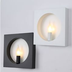76.00$  Watch here - http://ali339.worldwells.pw/go.php?t=32615222386 - modern wall mounted light for living room foyer bed room dining lamps Sconce fixtures square indoor lighting wall lamp 76.00$