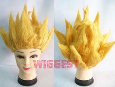 Dragon Ball Son Goku Cosplay Wig Dragonball Z Golden Hair for Halloween & Party $14