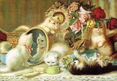 Cat : Fille Ruban Monde vierge