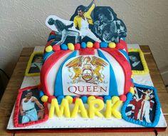 Queen freddie mercury cake