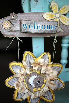"Authentique Paper: A ""Blissful"" Welcome Sign"