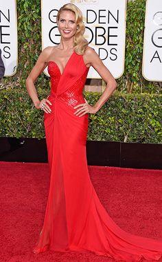 Heidi Klum #GoldenGlobes #EWGlobes