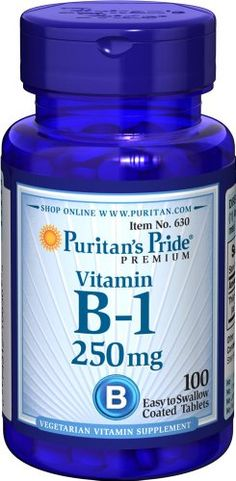 Puritan's Pride Vitamin B-1 250 mg-100 Tablets -- Want to know more, click on the image.