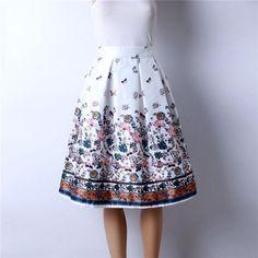 Z&KOZE 2016 Summer Women Vintage Retro Satin Floral Pleated Skirts Audrey Hepburn Style High Waist A-Line tutu Midi Skirt Floral Pleated Skirt, Pleated Skirts, Floral Skirts, Satin Skirt, Women's Skirts, Types Of Skirts, Vintage Skirt, Vintage Style, Vintage Pink
