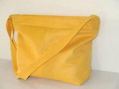 vegan  bag yellow shoulder bag with adjustable by LIGONbyRuthi, $69.00