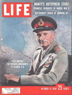 Cover Field Marshall Montgomery Page LIFE October 13 1958