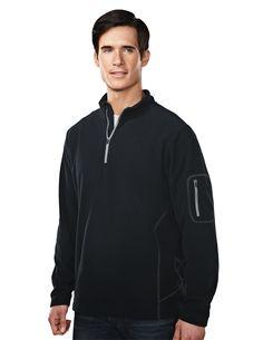Men's Micro Fleece Quarter Zipper Pullover (100% Polyester)   Tri mountain 7115 #Fleece #quarterzipper #Polyester