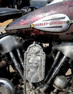 "Old Harley Gas Tank and Air Cleaner **VIEW More Cool Motorcycle Parts and our ""Other"" Category Pictures http://blog.lightningcustoms.com/other-motorcycle-pictures/ #motorcycleparts"