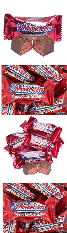 Check out this Spooky Red Nougat specialty candy offering from 3 Musketeers, new for 2016:  http://www.candywarehouse.com/products/3-musketeers-muskefears-fun-size-candy-bars-20-piece-bag/?utm_source=Pinterest&utm_medium=Social&utm_campaign=Halloween