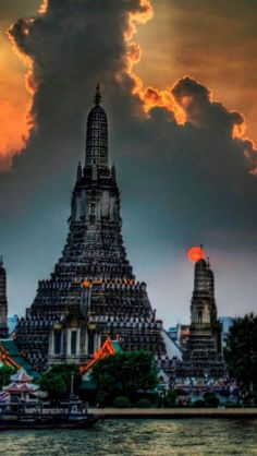 Wat Arun is a Buddhist temple in Bangkok Thailand http://en.directrooms.com/hotels/subregion/1-1-3/