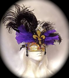 Mardi Gras Mask Masquerade Mask Carnivale Masks by Marcellefinery
