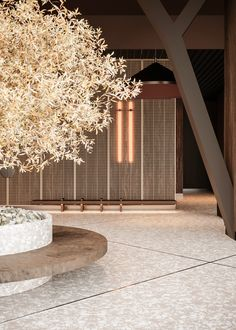 Business Center Hall Concept on Behance Hotel Lobby Design, Business Centre, Japanese House, Hospitality Design, Cafe Interior, Minimal Design, Retail Design, Restaurant Design, Decoration