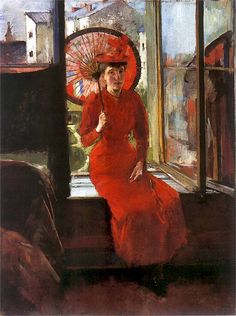Olga Boznańska (1865-1940)       Self-portrait with Japanese Umbrella 1892