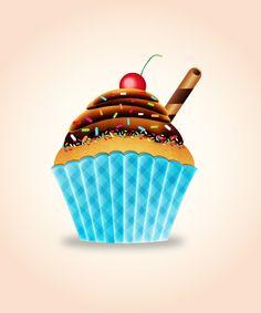 How to Create a Tasty Cupcake in Adobe Illustrator #illustratortutorials…