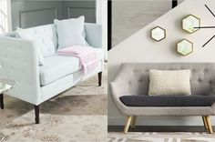21 Sofas That'll Actually Fit In Your Tiny Ass Apartment Furniture, Apartment Living, Room, Furniture Decor, Apartment, Sofas, Small House Design, Dorm Room, Interior Design