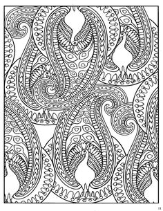 Dover Paisley Designs Coloring Book | Colouring Pages for Adults ...
