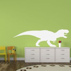 "Kids ""Life Size"" T-Rex - Vinyl Decal (Interior & Exterior) Pre-historic, Boys…"