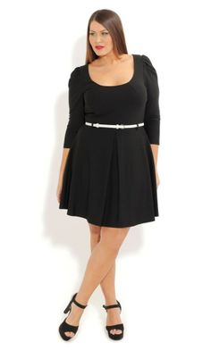 Plus Size Ice Skater Dress - City chic Plus Size Skater Dress, Cut Out Skater Dress, Plus Size Black Dresses, Plus Size Outfits, Curvy Girl Fashion, Plus Size Fashion, City Chic Online, Lil Black Dress, Big And Tall Outfits