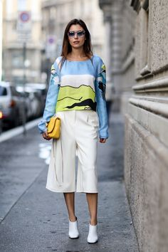 Street fashion: Milan Fashion Week wiosna-lato 2015, fot, Imaxtree