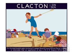 Clacton-on-Sea Giclee Print by L Hocknell at Art.com