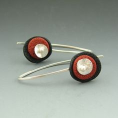 Circle earrings in every color!