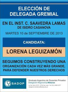 Elección Delegada Lorena Leguizamón