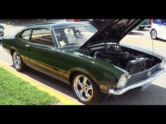 A 1970 Ford Maverick with the Coyote motor transplanted in it.I shot this cat at the Street Rod Nationals nice car. 2005 Mustang, Ford Maverick, Ford Motor Company, Vintage Cars, Vintage Auto, Rc Cars, Muscle Cars, Cool Cars, Classic Cars