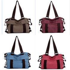 Forour bag all is new from factory,so it maybe have little smell, butdon't worry. Material: Canvas. Feature: Hanbag ,shoulder bag,Messenger bag. Lining Material: cloth. Thelining color and Zipper maybe different,because the factory sometimeuse different color and Zipper for lining.   eBay!