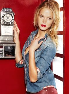 Erin Heatherton | SuiteBlanco F/W 2012.13 Ad Campaign | http://www.blanco.com/ want a denim shirt real bad