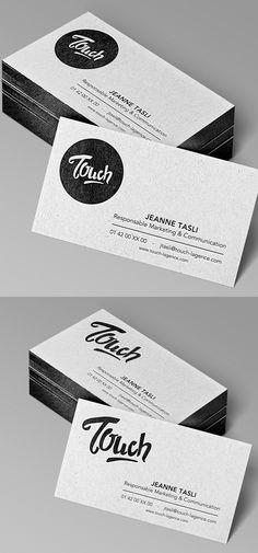 Beautiful Letterpress Business Card Design #businesscards #embossed #letterpressbusinesscards #letterpressprinting