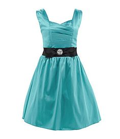 Junior Bridesmaid dress-- Ruby Rox 716 PleatedBodice Dress #Dillards