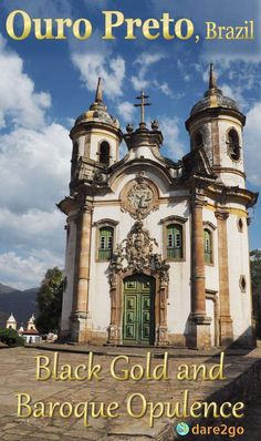 The facade of Igreja São Francisco de Assis in Ouro Preto. This old gold-mining…