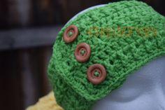 Headband, Ear Warmers, Crochet Headband, Ear Warmer Headband,Gift for Mom,  Bright Green Headband