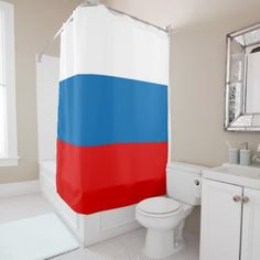 #Flag of Russia Shower Curtain - #Bathroom #Accessories #home #living