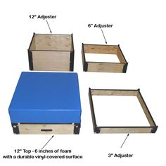 Plywood Plyo Boxes with Foam Top