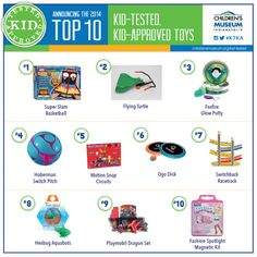 Kid Tested Kid Approved 2014 Toys picked by @childrensmuseum