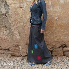 ...maxi riflová...od Lelisy Skirts, Fashion, Moda, Fashion Styles, Skirt, Fashion Illustrations, Gowns, Skirt Outfits