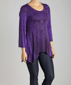 Another great find on #zulily! Violet Skull Sidetail Top - Plus #zulilyfinds