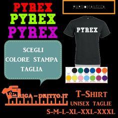 T-shirt Nera unisex logo  PYREX personalizza NEW COLLEZIONE MAGLIA CORRIERE 24H