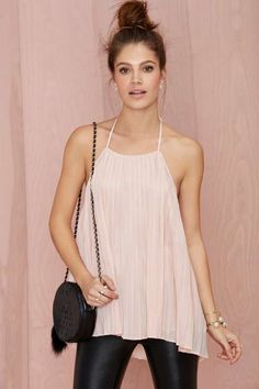 Nasty Gal If You Pleat Halter Top - Valentine's Day Shop