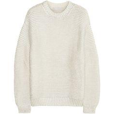 Stella McCartney Metallic coated cotton-blend sweater found on Polyvore