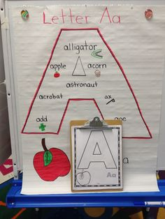 Create an alphabet anchor chart for each letter. Give students a chart of their own to create as you create yours.