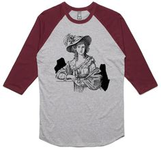theIndie Art of Beauty (Black) 3/4-Sleeve Raglan Baseball T-Shirt